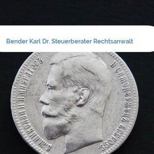 Bild Bender Karl Dr. Steuerberater Rechtsanwalt mittel