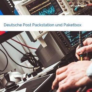 Bild Deutsche Post Packstation und Paketbox mittel