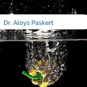 Bild Dr. Aloys Paskert mittel