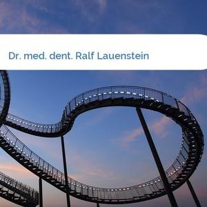 Bild Dr. med. dent. Ralf Lauenstein mittel