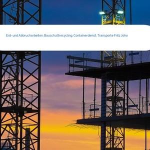 Bild Erd- und Abbrucharbeiten, Bauschuttrecycling, Containerdienst, Transporte Fritz Joho mittel