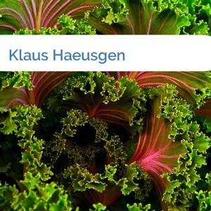 Bild Klaus Haeusgen mittel