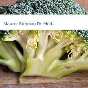 Bild Maurer Stephan Dr. Med. mittel