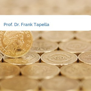 Bild Prof. Dr. Frank Tapella mittel