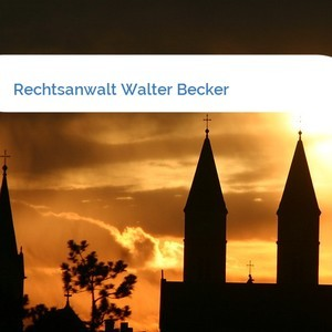 Bild Rechtsanwalt Walter Becker mittel