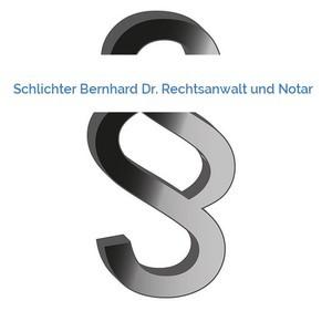 Bild Schlichter Bernhard Dr. Rechtsanwalt und Notar mittel