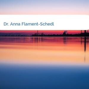 Bild Dr. Anna Flament-Schedl mittel