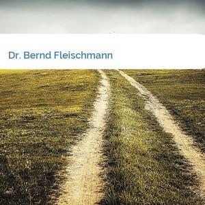Bild Dr. Bernd Fleischmann mittel