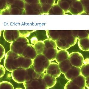 Bild Dr. Erich Altenburger mittel