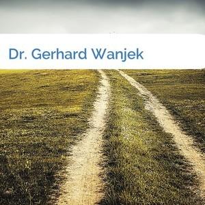 Bild Dr. Gerhard Wanjek mittel