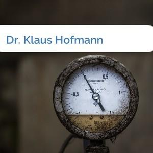 Bild Dr. Klaus Hofmann mittel