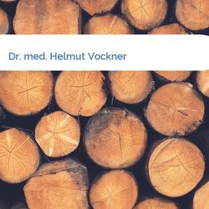 Bild Dr. med. Helmut Vockner mittel