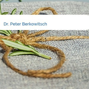 Bild Dr. Peter Berkowitsch mittel