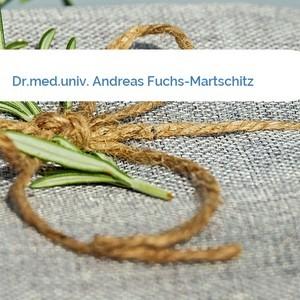 Bild Dr.med.univ. Andreas Fuchs-Martschitz mittel