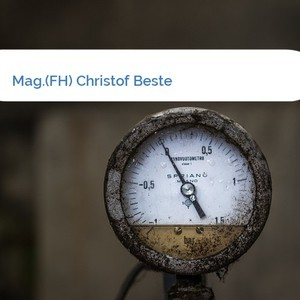 Bild Mag.(FH) Christof Beste mittel