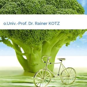 Bild o.Univ.-Prof. Dr. Rainer KOTZ mittel