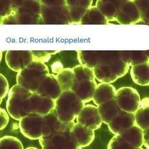 Bild Oa. Dr. Ronald Koppelent mittel