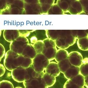 Bild Philipp Peter, Dr. mittel
