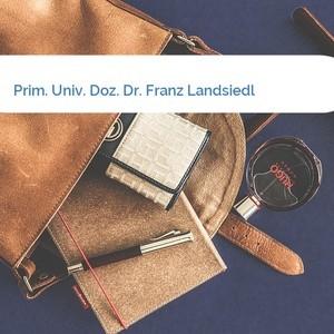 Bild Prim. Univ. Doz. Dr. Franz Landsiedl mittel