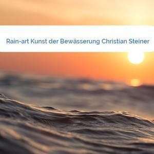 Bild Rain-art Kunst der Bewässerung Christian Steiner mittel