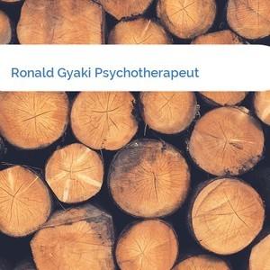 Bild Ronald Gyaki Psychotherapeut mittel
