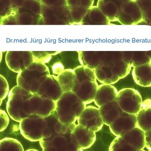 Bild Dr.med. Jürg Jürg Scheurer Psychologische Beratung mittel