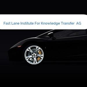 Bild Fast Lane Institute For Knowledge Transfer  AG mittel
