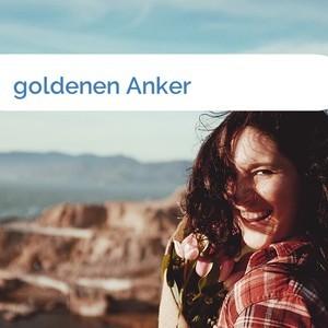 Bild goldenen Anker mittel