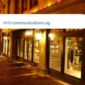 Bild H+O communications ag mittel